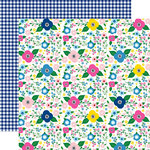 Echo Park - I Love Summer Collection - 12 x 12 Double Sided Paper - Summer Floral