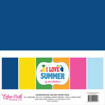 Echo Park - I Love Summer Collection - 12 x 12 Paper Pack - Solids