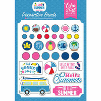 Echo Park - I Love Summer Collection - Decorative Brads