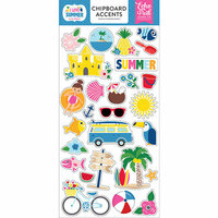 Echo Park - I Love Summer Collection - Chipboard Stickers - Accents