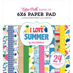 Echo Park - I Love Summer Collection - 6 x 6 Paper Pad