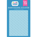 Echo Park - I Love Summer Collection - Embossing Folder - Ride the Wave