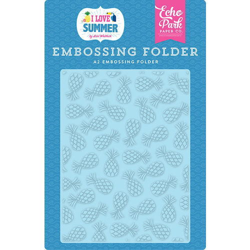 Echo Park - I Love Summer Collection - Embossing Folder - Summer Pineapples