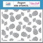 Echo Park - I Love Summer Collection - 6 x 6 Stencil - Pineapple Paradise