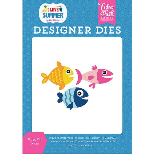 Echo Park - I Love Summer Collection - Designer Dies - Happy Fish