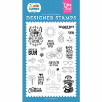 Echo Park - I Love Summer Collection - Clear Photopolymer Stamps - It's Summer Time