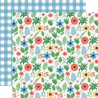 Echo Park - Summertime Collection - 12 x 12 Double Sided Paper - Summer Floral