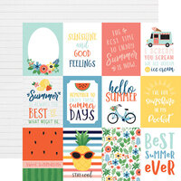 Echo Park - Summertime Collection - 12 x 12 Double Sided Paper - 3 x 4 Journaling Cards