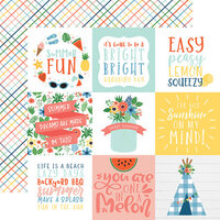Echo Park - Summertime Collection - 12 x 12 Double Sided Paper - 4 x 4 Journaling Cards