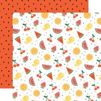 Echo Park - Summertime Collection - 12 x 12 Double Sided Paper - Fruit