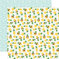 Echo Park - Summertime Collection - 12 x 12 Double Sided Paper - Pineapples