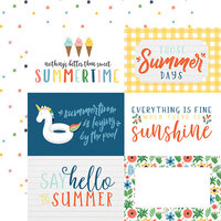 Echo Park - Summertime Collection - 12 x 12 Double Sided Paper - 6 x 4 Journaling Cards