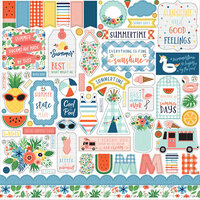 Echo Park - Summertime Collection - 12 x 12 Cardstock Stickers - Element