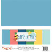 Echo Park - Summertime Collection - 12 x 12 Solids Paper Pack