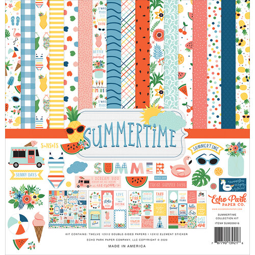 Echo Park - Summertime Collection - 12 x 12 Collection Kit