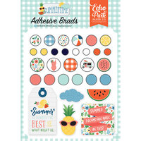 Echo Park - Summertime Collection - Self-Adhesive Decorative Brads
