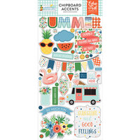 Echo Park - Summertime Collection - Chipboard Stickers - Accents