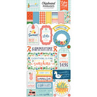 Echo Park - Summertime Collection - Chipboard Stickers - Phrases
