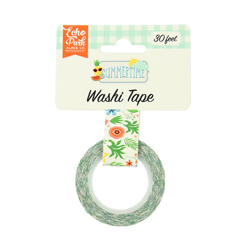 Echo Park - Summertime Collection - Decorative Tape - Summer Flowers