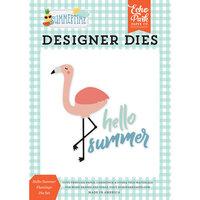 Echo Park - Summertime Collection - Decorative Dies - Hello Summer Flamingo