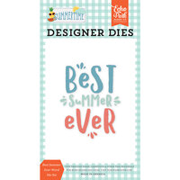 Echo Park - Summertime Collection - Decorative Dies - Best Summer Ever Word
