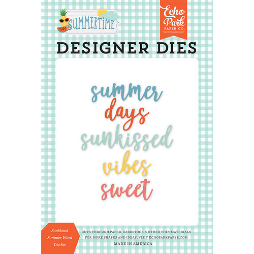 Echo Park - Summertime Collection - Decorative Dies - Sunkissed Summer Word