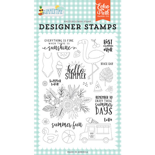 Echo Park - Summertime Collection - Clear Photopolymer Stamps - Summer Lovin'