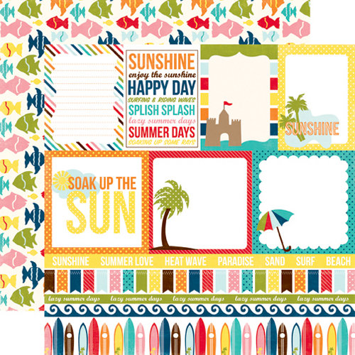 Echo Park - Sunshine Collection - 12 x 12 Double Sided Paper - Journaling
