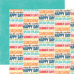 Echo Park - Sunshine Collection - 12 x 12 Double Sided Paper - Word
