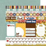 Echo Park - Woof Collection - 12 x 12 Double Sided Paper - Journaling