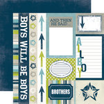 Echo Park - Boys Collection - 12 x 12 Double Sided Paper - Journaling