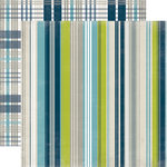 Echo Park - Boys Collection - 12 x 12 Double Sided Paper - Stripe
