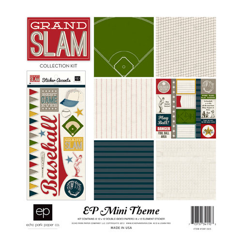 Echo Park - Grand Slam Collection - 12 x 12 Collection Kit