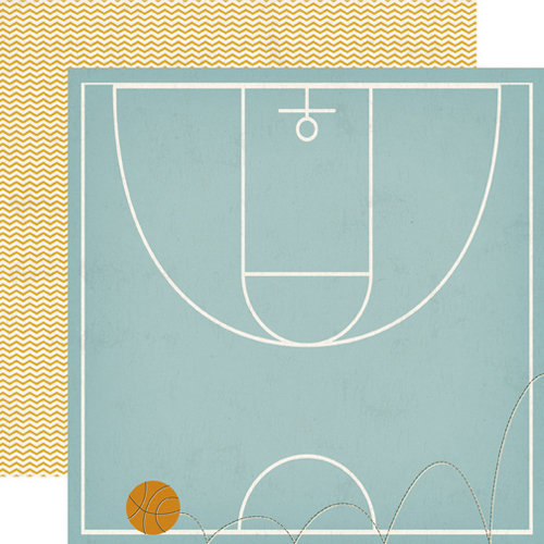 Echo Park - All Star Collection - 12 x 12 Double Sided Paper - Court