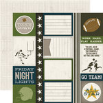 Echo Park - Touchdown Collection - 12 x 12 Double Sided Paper - Journaling