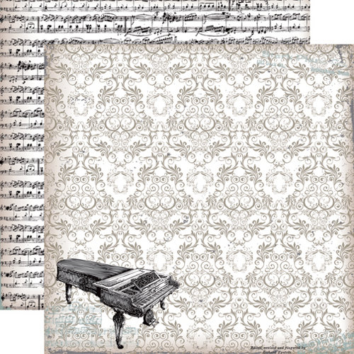 Echo Park - Melody of Life Collection - 12 x 12 Double Sided Paper - Piano