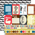 Echo Park - Family Man Collection - 12 x 12 Double Sided Paper - Manly Man