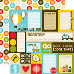 Echo Park - Enjoy the Ride Collection - 12 x 12 Double Sided Paper - Journaling Cards