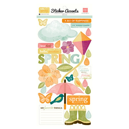 Echo Park - Hello, Spring Collection - Cardstock Stickers