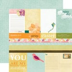 Echo Park - Hello, Spring Collection - 12 x 12 Double Sided Paper - Journaling