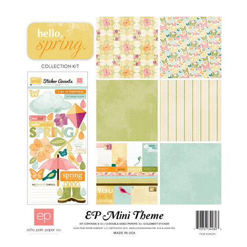 Echo Park - Hello, Spring Collection - 12 x 12 Collection Kit