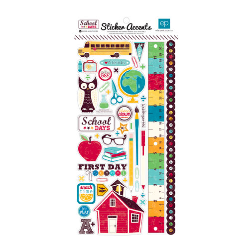 Echo Park - School Days Collection - Cardstock Stickers