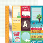 Echo Park - School Days Collection - 12 x 12 Double Sided Paper - Journaling Cards