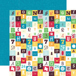 Echo Park - School Days Collection - 12 x 12 Double Sided Paper - Numbers and Letters