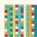 Echo Park - School Days Collection - 12 x 12 Double Sided Paper - Rulers