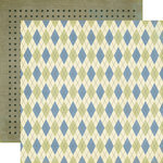 Echo Park - Grandpa's Tool Shed Collection - 12 x 12 Double Sided Paper - Grandpa's Argyle
