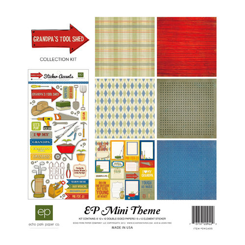 Echo Park - Grandpa's Tool Shed Collection - 12 x 12 Collection Kit