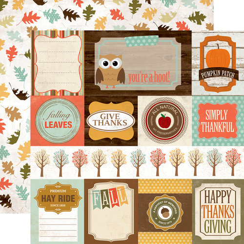 Echo Park - Fall Fever Collection - 12 x 12 Double Sided Paper - Journaling