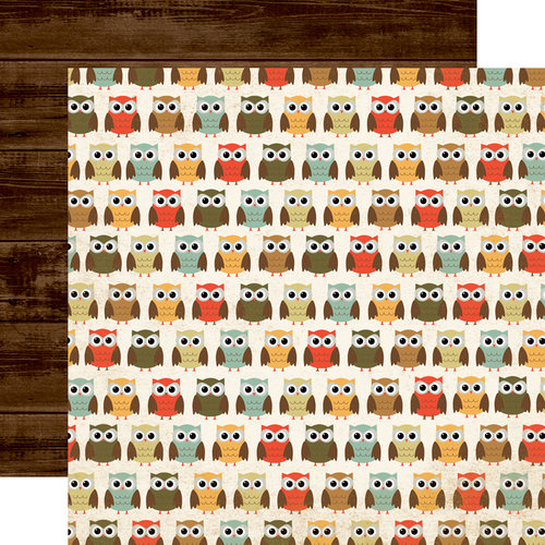 Echo Park - Fall Fever Collection - 12 x 12 Double Sided Paper - Owl