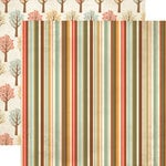 Echo Park - Fall Fever Collection - 12 x 12 Double Sided Paper - Stripe